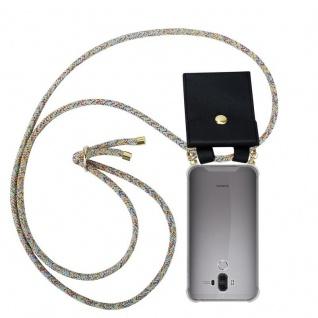 Cadorabo Handy Kette für Huawei MATE 9 in RAINBOW - Silikon Necklace Umhänge Hülle mit Gold Ringen, Kordel Band Schnur und abnehmbarem Etui ? Schutzhülle