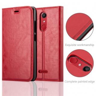Cadorabo Hülle für WIKO UPULSE in APFEL ROT Handyhülle mit Magnetverschluss, Standfunktion und Kartenfach Case Cover Schutzhülle Etui Tasche Book Klapp Style - Vorschau 2