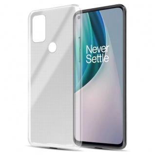 Cadorabo Hülle kompatibel mit OnePlus Nord N100 in VOLL TRANSPARENT Handyhülle aus flexiblem TPU Silikon Silikonhülle Schutzhülle Ultra Slim Soft Back Cover Case Bumper