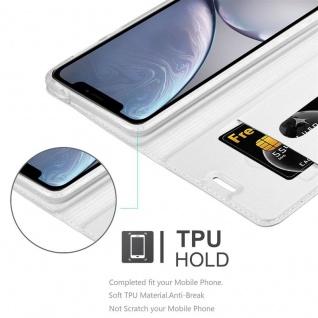 Cadorabo Hülle für Apple iPhone XR in CLASSY SILBER - Handyhülle mit Magnetverschluss, Standfunktion und Kartenfach - Case Cover Schutzhülle Etui Tasche Book Klapp Style - Vorschau 2