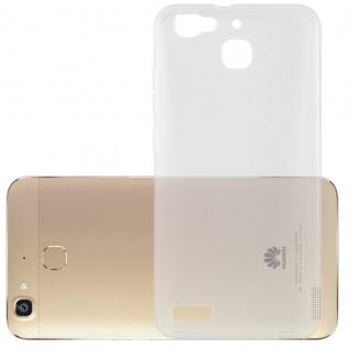 Cadorabo Hülle für Huawei G8 MINI / ENJOY 5 in VOLL TRANSPARENT - Handyhülle aus flexiblem TPU Silikon - Silikonhülle Schutzhülle Ultra Slim Soft Back Cover Case Bumper