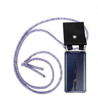 Cadorabo Handy Kette für Nokia 8 2017 in UNICORN Silikon Necklace Umhänge Hülle mit Silber Ringen, Kordel Band Schnur und abnehmbarem Etui Schutzhülle