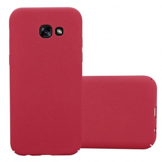 Cadorabo Hülle für Samsung Galaxy A5 2017 in FROSTY ROT - Hardcase Handyhülle aus Plastik gegen Kratzer und Stöße - Schutzhülle Bumper Ultra Slim Back Case Hard Cover