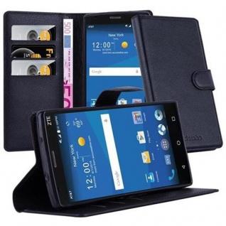Cadorabo Hülle für ZTE Zmax 2 in PHANTOM SCHWARZ - Handyhülle mit Magnetverschluss, Standfunktion und Kartenfach - Case Cover Schutzhülle Etui Tasche Book Klapp Style