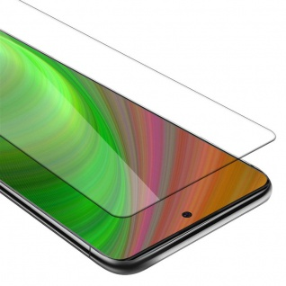 Cadorabo Panzer Folie für Samsung Galaxy A91 Schutzfolie in KRISTALL KLAR Gehärtetes (Tempered) Display-Schutzglas in 9H Härte mit 3D Touch Kompatibilität