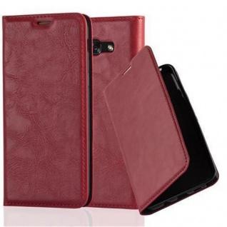 Cadorabo Hülle für Samsung Galaxy A3 2017 in APFEL ROT - Handyhülle mit Magnetverschluss, Standfunktion und Kartenfach - Case Cover Schutzhülle Etui Tasche Book Klapp Style