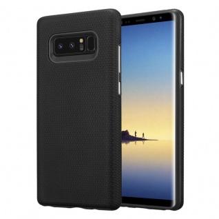 Cadorabo Hülle für Samsung Galaxy NOTE 8 in DAHLIEN SCHWARZ ? Outdoor Handyhülle mit extra Grip Anti Rutsch Oberfläche im Triangle Design aus Silikon und Kunststoff - Schutzhülle Hybrid Hardcase Back Case
