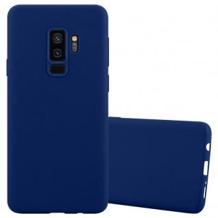 Cadorabo Hülle für Samsung Galaxy S9 PLUS in CANDY DUNKEL BLAU - Handyhülle aus flexiblem TPU Silikon - Silikonhülle Schutzhülle Ultra Slim Soft Back Cover Case Bumper