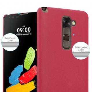 Cadorabo Hülle für LG Stylus 2 in FROSTY ROT - Hardcase Handyhülle aus Plastik gegen Kratzer und Stöße - Schutzhülle Bumper Ultra Slim Back Case Hard Cover - Vorschau 4