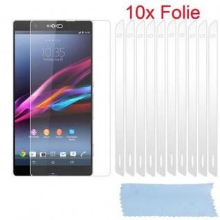 Cadorabo Displayschutzfolien für Sony Xperia Z2 - Schutzfolien in HIGH CLEAR ? 10 Stück hochtransparenter Schutzfolien gegen Staub, Schmutz und Kratzer