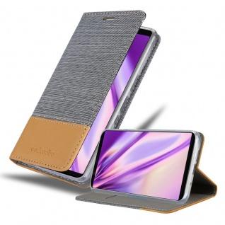 Cadorabo Hülle für Sony Xperia 5 in HELL GRAU BRAUN Handyhülle mit Magnetverschluss, Standfunktion und Kartenfach Case Cover Schutzhülle Etui Tasche Book Klapp Style