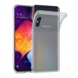 Cadorabo Hülle für Samsung Galaxy A50 in VOLL TRANSPARENT - Handyhülle aus flexiblem TPU Silikon - Silikonhülle Schutzhülle Ultra Slim Soft Back Cover Case Bumper