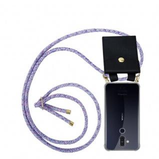 Cadorabo Handy Kette für Nokia 8.1 2018 in UNICORN Silikon Necklace Umhänge Hülle mit Gold Ringen, Kordel Band Schnur und abnehmbarem Etui Schutzhülle