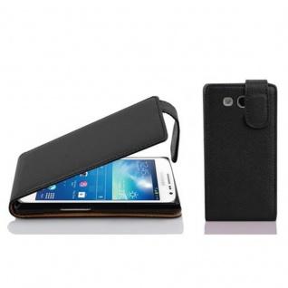 Cadorabo Hülle für Samsung Galaxy EXPRESS 2 in OXID SCHWARZ - Handyhülle im Flip Design aus strukturiertem Kunstleder - Case Cover Schutzhülle Etui Tasche Book Klapp Style