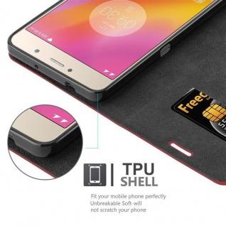 Cadorabo Hülle für Lenovo P2 in APFEL ROT Handyhülle mit Magnetverschluss, Standfunktion und Kartenfach Case Cover Schutzhülle Etui Tasche Book Klapp Style - Vorschau 2