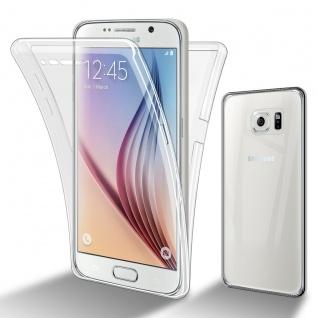 Cadorabo Hülle kompatibel mit Samsung Galaxy S6 in TRANSPARENT - 360° Full Body Handyhülle Front und Rückenschutz Rundumschutz Schutzhülle mit Displayschutz