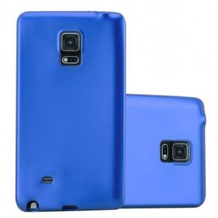 Cadorabo Hülle für Samsung Galaxy NOTE EDGE in METALLIC BLAU - Handyhülle aus flexiblem TPU Silikon - Silikonhülle Schutzhülle Ultra Slim Soft Back Cover Case Bumper