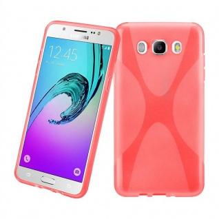 Cadorabo Hülle für Samsung Galaxy J7 2016 in INFERNO ROT - Handyhülle aus flexiblem TPU Silikon - Silikonhülle Schutzhülle Ultra Slim Soft Back Cover Case Bumper