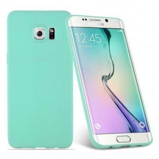 Cadorabo Hülle für Samsung Galaxy S6 EDGE in CANDY BLAU - Handyhülle aus flexiblem TPU Silikon - Silikonhülle Schutzhülle Ultra Slim Soft Back Cover Case Bumper - Vorschau 2