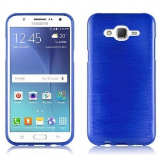 Cadorabo Hülle für Samsung Galaxy J5 2015 in BLAU - Handyhülle aus flexiblem TPU Silikon - Silikonhülle Schutzhülle Ultra Slim Soft Back Cover Case Bumper