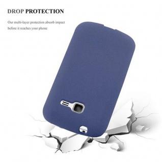 Cadorabo Hülle für Samsung Galaxy TREND LITE in FROST DUNKEL BLAU - Handyhülle aus flexiblem TPU Silikon - Silikonhülle Schutzhülle Ultra Slim Soft Back Cover Case Bumper - Vorschau 4