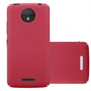 Cadorabo Hülle für Motorola MOTO C PLUS in FROSTY ROT - Hardcase Handyhülle aus Plastik gegen Kratzer und Stöße - Schutzhülle Bumper Ultra Slim Back Case Hard Cover