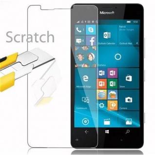 Cadorabo Panzer Folie für Nokia Lumia 950 - Schutzfolie in KRISTALL KLAR - Gehärtetes (Tempered) Display-Schutzglas in 9H Härte mit 3D Touch Kompatibilität - Vorschau 2