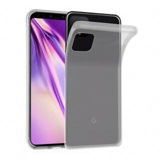 Cadorabo Hülle für Google Pixel 4 in VOLL TRANSPARENT - Handyhülle aus flexiblem TPU Silikon - Silikonhülle Schutzhülle Ultra Slim Soft Back Cover Case Bumper