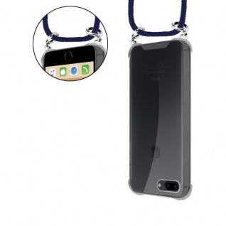 Cadorabo Handy Kette für Apple iPhone 8 PLUS / 7 PLUS / 7S PLUS in TIEF BLAU - Silikon Necklace Umhänge Hülle mit Silber Ringen, Kordel Band Schnur und abnehmbarem Etui - Schutzhülle - Vorschau 5