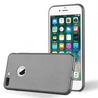 Cadorabo Hülle für Apple iPhone 8 PLUS / iPhone 7 PLUS / iPhone 7S PLUS in METALLIC GRAU Handyhülle aus flexiblem TPU Silikon Silikonhülle Schutzhülle Ultra Slim Soft Back Cover Case Bumper