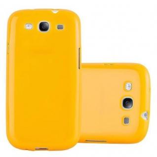 Cadorabo Hülle für Samsung Galaxy S3 MINI in JELLY GELB ? Handyhülle aus flexiblem TPU Silikon ? Silikonhülle Schutzhülle Ultra Slim Soft Back Cover Case Bumper