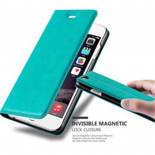 Cadorabo Hülle für Apple iPhone 6 / iPhone 6S in PETROL TÜRKIS - Handyhülle mit Magnetverschluss, Standfunktion und Kartenfach - Case Cover Schutzhülle Etui Tasche Book Klapp Style