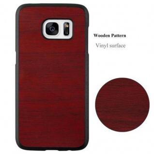 Cadorabo Hülle für Samsung Galaxy S7 in WOODY ROT ? Hardcase Handyhülle aus Plastik gegen Kratzer und Stöße ? Schutzhülle Bumper Ultra Slim Back Case Hard Cover - Vorschau 3