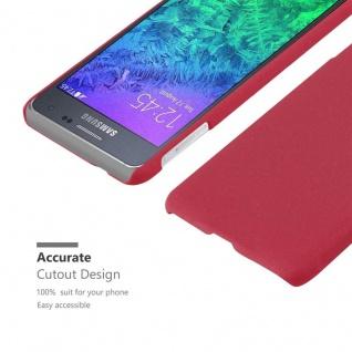 Cadorabo Hülle für Samsung Galaxy ALPHA in FROSTY ROT - Hardcase Handyhülle aus Plastik gegen Kratzer und Stöße - Schutzhülle Bumper Ultra Slim Back Case Hard Cover - Vorschau 5