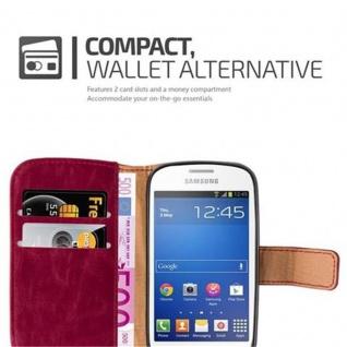 Cadorabo Hülle für Samsung Galaxy TREND LITE in WEIN ROT ? Handyhülle mit Magnetverschluss, Standfunktion und Kartenfach ? Case Cover Schutzhülle Etui Tasche Book Klapp Style - Vorschau 3