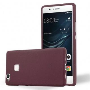 Cadorabo Hülle für Huawei P9 LITE in FROST BORDEAUX LILA - Handyhülle aus flexiblem TPU Silikon - Silikonhülle Schutzhülle Ultra Slim Soft Back Cover Case Bumper