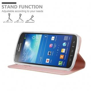 Cadorabo Hülle für Samsung Galaxy S4 Active in CLASSY ROSÉ GOLD - Handyhülle mit Magnetverschluss, Standfunktion und Kartenfach - Case Cover Schutzhülle Etui Tasche Book Klapp Style - Vorschau 2