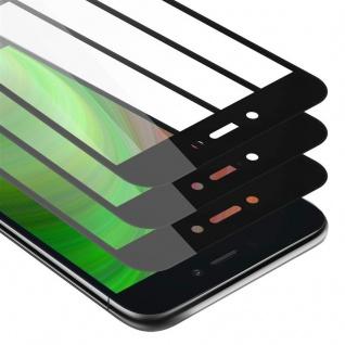 Cadorabo 3x Vollbild Panzer Folie für Xiaomi RedMi GO - Schutzfolie in TRANSPARENT mit SCHWARZ - 3er Pack Gehärtetes (Tempered) Display-Schutzglas in 9H Härte mit 3D Touch