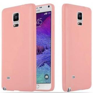 Cadorabo Hülle für Samsung Galaxy NOTE 4 in CANDY ROSA - Handyhülle aus flexiblem TPU Silikon - Silikonhülle Schutzhülle Ultra Slim Soft Back Cover Case Bumper