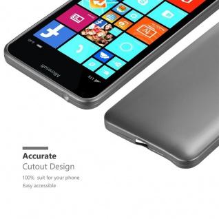Cadorabo Hülle für Nokia Lumia 640 XL in METALLIC GRAU - Handyhülle aus flexiblem TPU Silikon - Silikonhülle Schutzhülle Ultra Slim Soft Back Cover Case Bumper - Vorschau 5