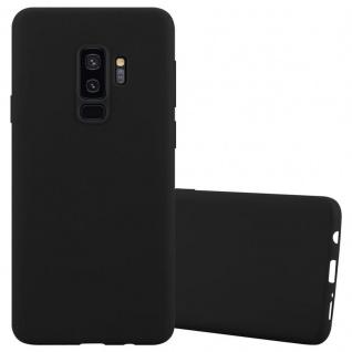 Cadorabo Hülle für Samsung Galaxy S9 PLUS in CANDY SCHWARZ - Handyhülle aus flexiblem TPU Silikon - Silikonhülle Schutzhülle Ultra Slim Soft Back Cover Case Bumper