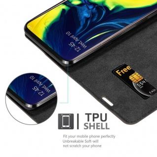 Cadorabo Hülle für Samsung Galaxy A80 / A90 in KAFFEE BRAUN - Handyhülle mit Magnetverschluss, Standfunktion und Kartenfach - Case Cover Schutzhülle Etui Tasche Book Klapp Style - Vorschau 2