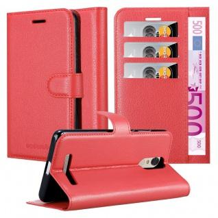 Cadorabo Hülle für Xiaomi RedMi Note 3 in KARMIN ROT - Handyhülle mit Magnetverschluss, Standfunktion und Kartenfach - Case Cover Schutzhülle Etui Tasche Book Klapp Style