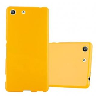 Cadorabo Hülle für Sony Xperia M5 in JELLY GELB - Handyhülle aus flexiblem TPU Silikon - Silikonhülle Schutzhülle Ultra Slim Soft Back Cover Case Bumper