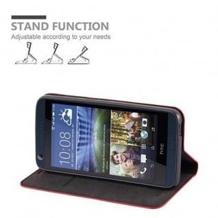 Cadorabo Hülle für HTC DESIRE 626G in APFEL ROT Handyhülle mit Magnetverschluss, Standfunktion und Kartenfach Case Cover Schutzhülle Etui Tasche Book Klapp Style - Vorschau 3