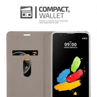 Cadorabo Hülle für LG STYLUS 2 in GRAU SCHWARZ - Handyhülle mit Magnetverschluss, Standfunktion und Kartenfach - Case Cover Schutzhülle Etui Tasche Book Klapp Style - Vorschau 5