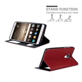 Cadorabo Hülle für Huawei MATE 9 in SAFRAN ROT ? Handyhülle mit Magnetverschluss, Standfunktion und 2 Sichtfenstern ? Case Cover Schutzhülle Etui Tasche Book Klapp Style - Vorschau 4