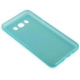 Cadorabo Hülle für Samsung Galaxy J7 2016 in TRANSPARENT BLAU - Handyhülle aus flexiblem TPU Silikon - Silikonhülle Schutzhülle Ultra Slim Soft Back Cover Case Bumper - Vorschau 3