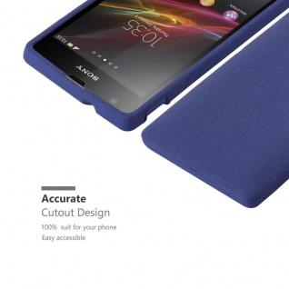 Cadorabo Hülle für Sony Xperia SP in FROST DUNKEL BLAU - Handyhülle aus flexiblem TPU Silikon - Silikonhülle Schutzhülle Ultra Slim Soft Back Cover Case Bumper - Vorschau 2