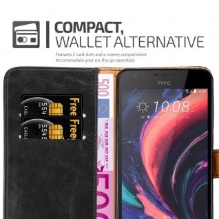 Cadorabo Hülle für HTC Desire 10 Lifestyle / Desire 825 in GRAPHIT SCHWARZ - Handyhülle mit Magnetverschluss, Standfunktion und Kartenfach - Case Cover Schutzhülle Etui Tasche Book Klapp Style - Vorschau 5